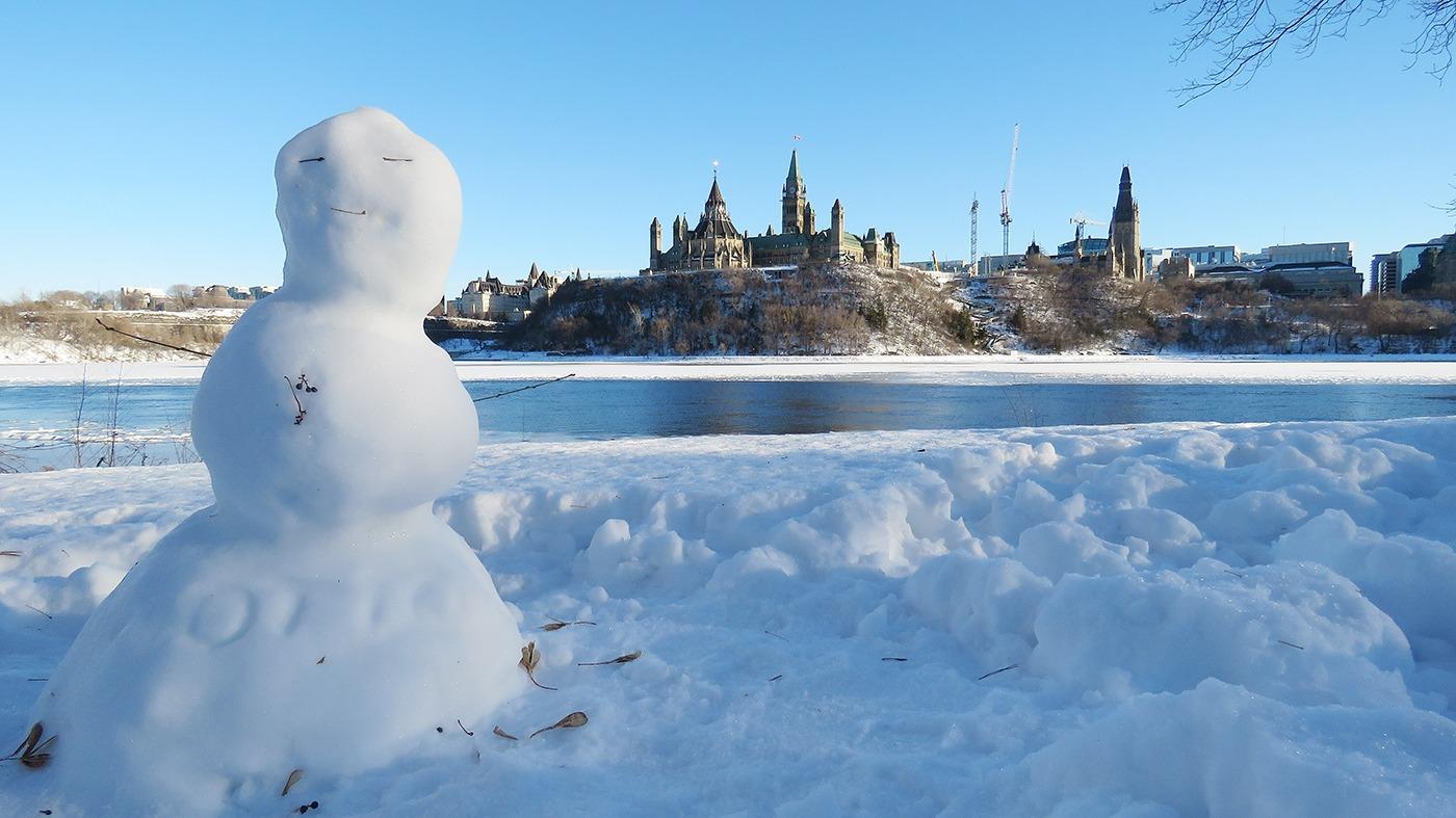 Der kanadische Winter ist so viel cooler als in Deutschland ...