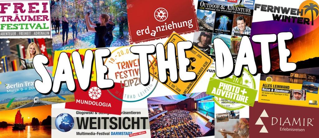 Reise-Festival-Veranstaltungskalender 2018 (im deutschsprachigen Raum)
